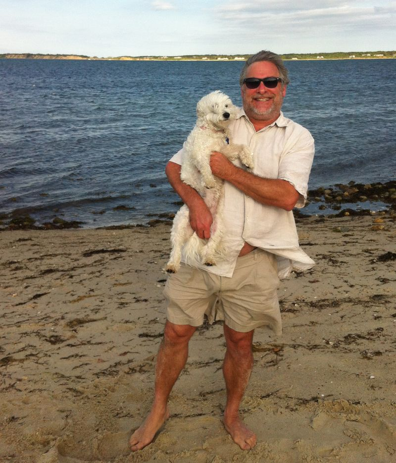 2012-06-03 MV Edgartown Beach with Biscuit 1