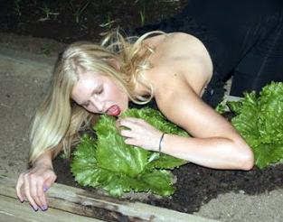 Girl-eating-lettuce